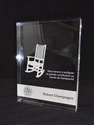 Trophée rectangle en acrylique