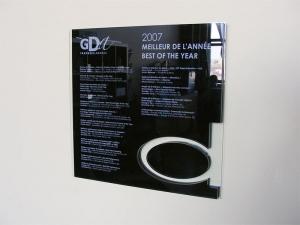 Plaque acrylique