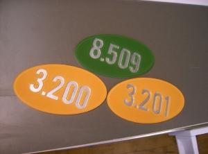 Adresses de locaux en acrylique