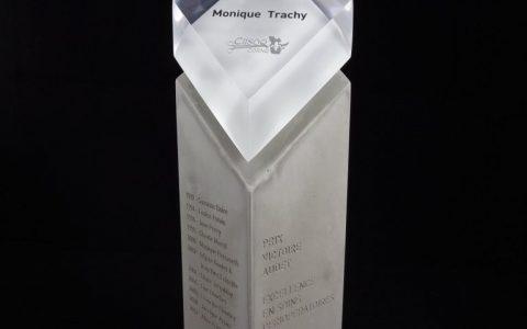 Trophées en acrylique et béton