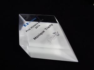 Pièce de trophée en acrylique